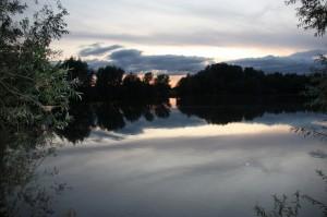 omgeving - de waal bij zondsondergang